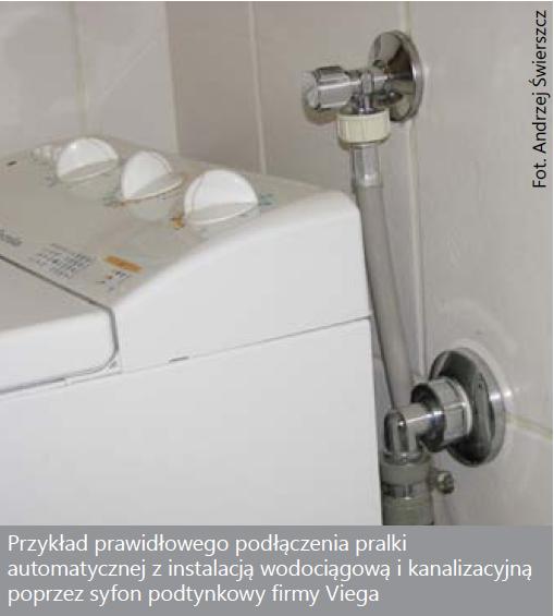 instalacja podłączenia prania