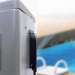 Sterownik pompy ciepła PCWBi korzysta z wielokolorowego ekranu dotykowego.  Przy zastosowaniu modułu internetowego PCWB mWiFi nowe pompy ciepłą mogą być sterowane za pomocą aplikacji przez smartfon
